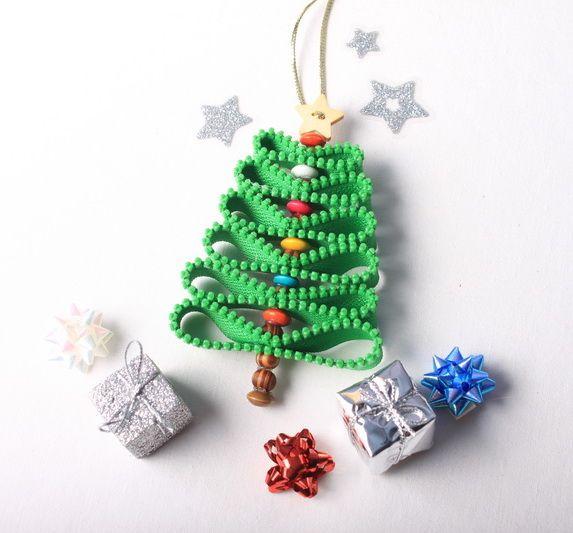 Návod na zipový vánoční stromeček
