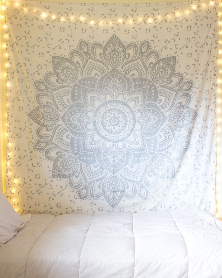 Silver Mandala Tapestry from https://thebohemianshop.com