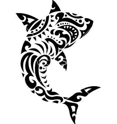 Shark tribal tattoo vector 894973 - by dagadu on VectorStock®