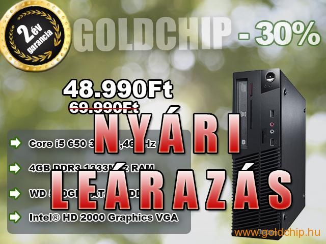 Újszerű Lenovo Core i5-650 3,46Ghz CPU - 4GB DDR3 PC  http://www.goldchip.hu/Ujszeru-Lenovo-Core-i5-650-3-46Ghz-CPU-4GB-DDR3-PC-d30939.htm