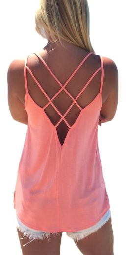 It's Love Strappy Top - Pink