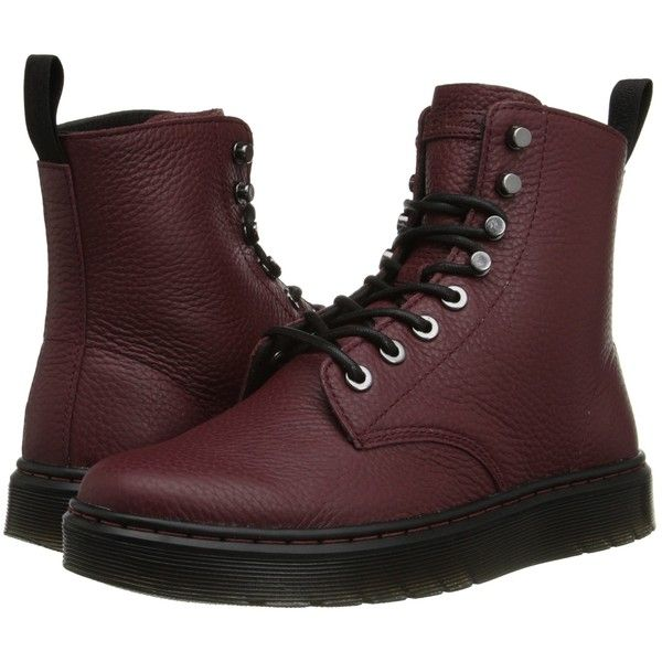 TL0Sm B2O Boots 2016 Womens Shoes Dr Martens Disc 8 Tie Boot Oxblood Montreal Lux Stylish