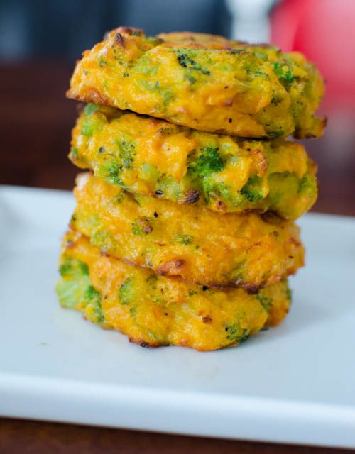 Broccoli and Cheddar Patties - substitute cheddar for a milk free alternative