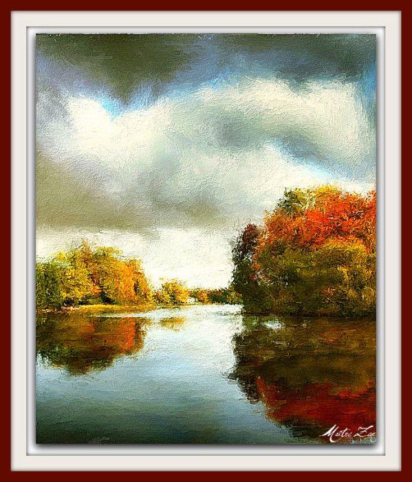 """Peinture: """"Le reflet d'automne"""" - Le site de Maître Zen"""