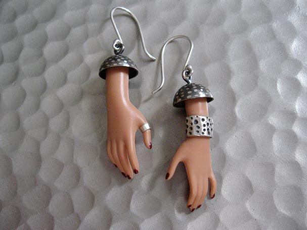 Jewelry Made of Pieces of Barbies - 17; well that's terrifying...unless it's for halloween