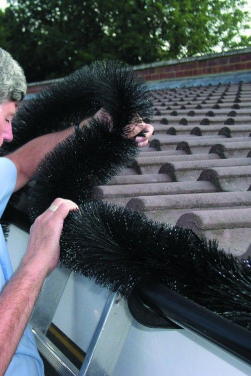 The amazing Hedgehog Gutter Brush stops gutter clutter!