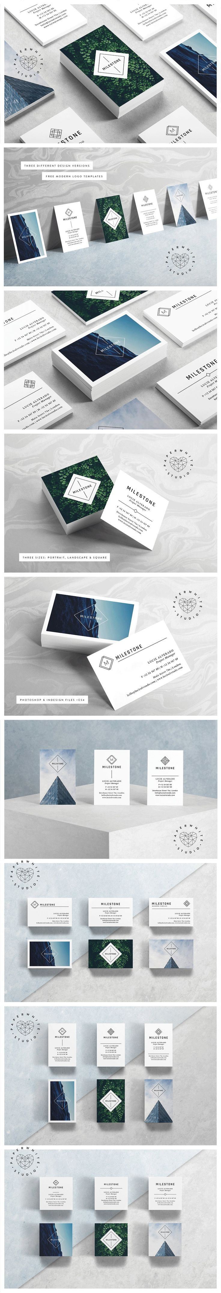 MILESTONE Business Cards by Paperwhite Studio