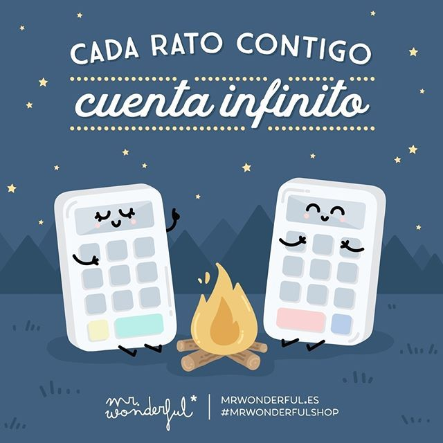 Y aquí seguimos multiplicando momentos juntos. Every moment I spend with you is worth infinity. And we keep multiplying good times together. #mrwonderfulshop #quotes #infinity #together