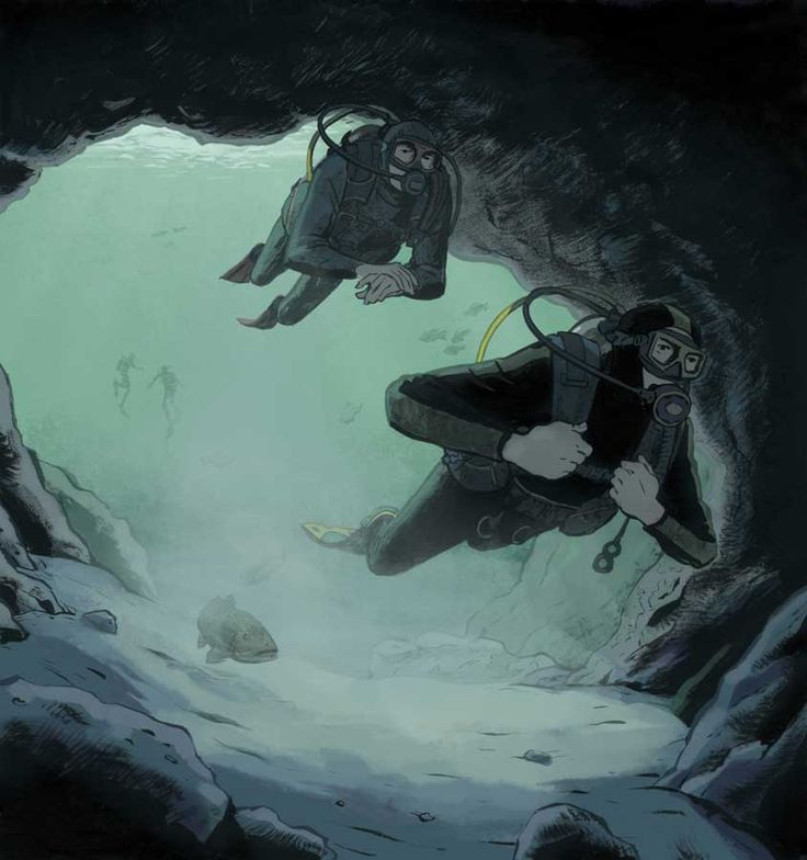 """Making an unplanned and untrained cave dive dooms a pair of inexperienced divers. The latest installment in our dive-training series """"Lessons For Life."""""""