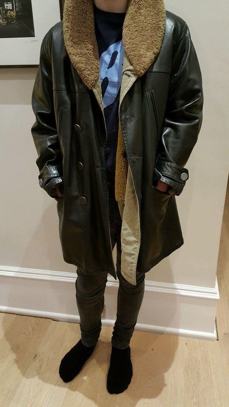 Mens Armani Leather Jacket Size 52   eBay