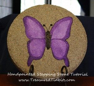 Hand-painted Stepping Stone Tutorial with printable