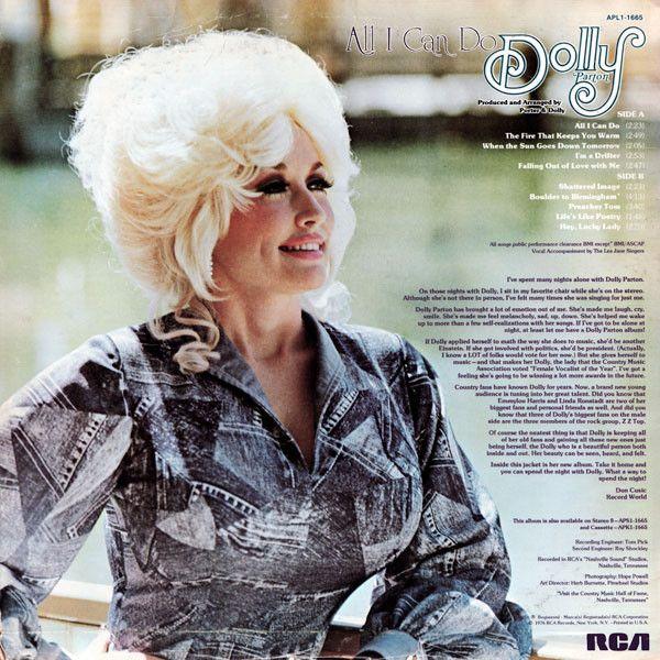 Dolly Parton - All I Can Do (Vinyl, LP, Album) at Discogs