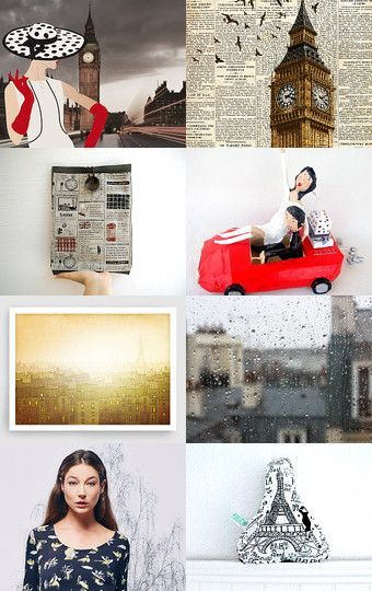 ON THE ROAD London - Paris - Athens - Rome by Paola Fornasier on Etsy--Pinned with TreasuryPin.com