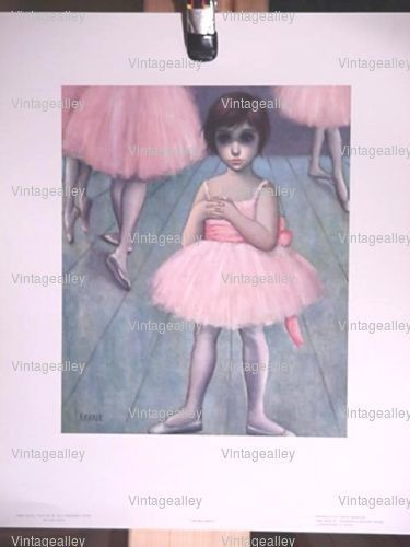 VTG. Walter Margaret Keane Big Eyes Lithograph Print Ballerina Girl 60's + BONUS #BigEyeKids