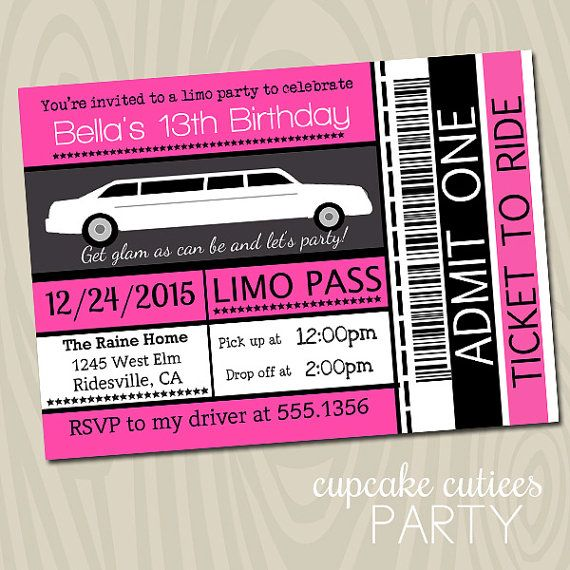 13 Best Limo Birthday Party Images On Pinterest
