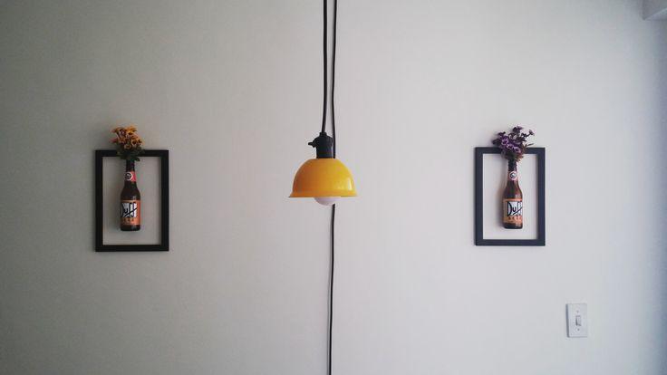 Lustre feito com vasilha de plástico e cabo. Tudo por 35 reais. Aprenda como fazer!
