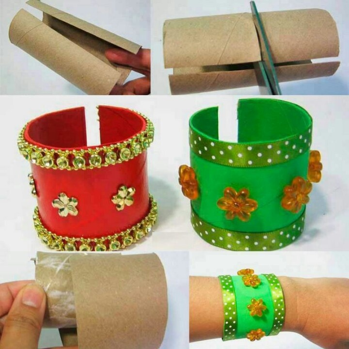 TP roll bracelets - easy and fun!