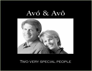 """Avó & Avô 4""""x6"""" Photo Frame with Verse (Two Very Special People)"""