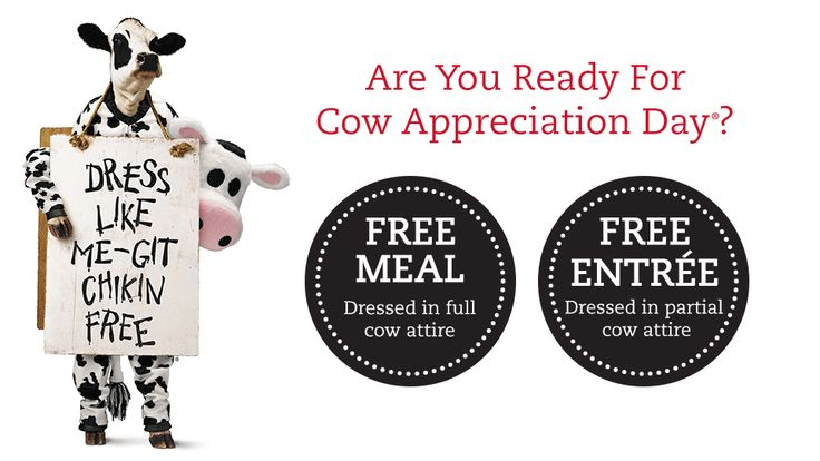 Cow Appreciation Day at Chick-fil-A 2014