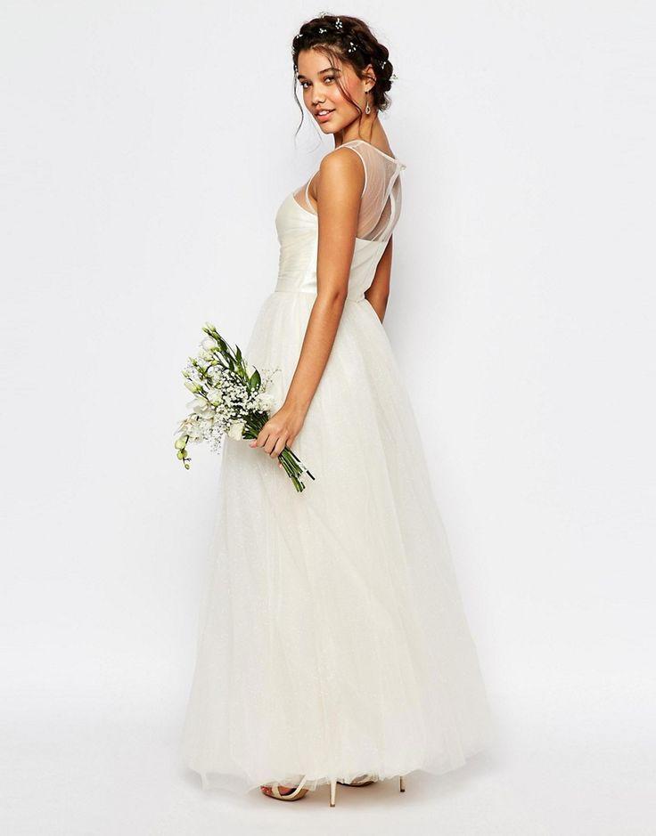 Изображение 2 из Свадебное платье макси из тюля Chi Chi London