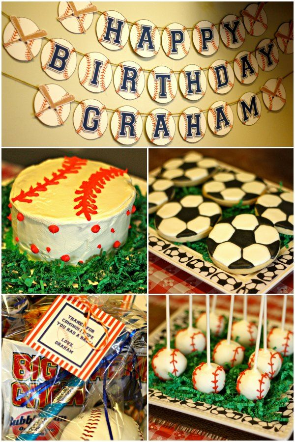 SPORTS THEME BIRTHDAY!  Click for lots of party ideas.
