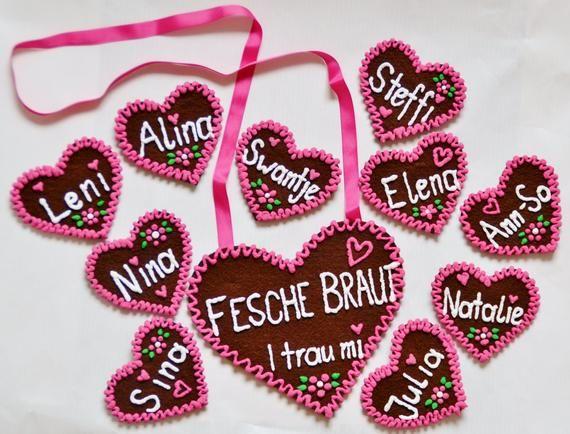 Lebkuchenherz Zum Umhangen Mit Deinem Text Lebkuchen Filzherz Filz Herz Trachten Hochzeit Jga Junggesellinnen Junggesellen Braut Brautigam Sugar Cookie Sugar Food