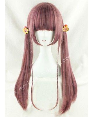 70cm Purple Brown Straight Lolita Wig #lolita  #wig