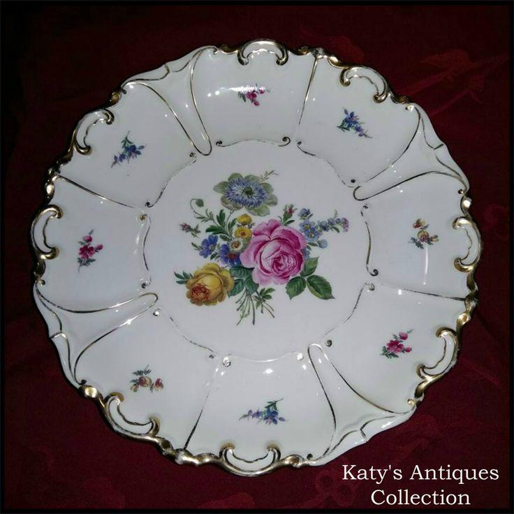 Antique Jlmenau Graf Von Henneberg Porzellan 1777 Platter, Hand Enamelled and Gilded.