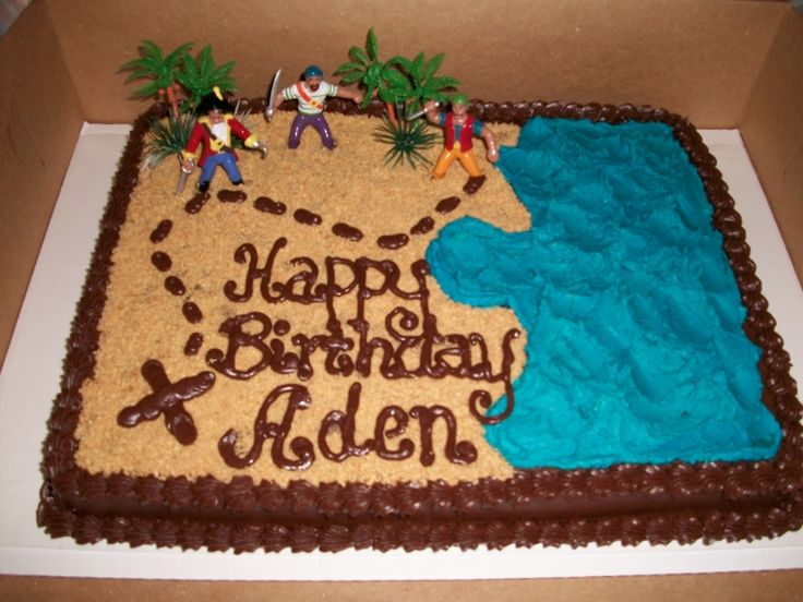 pirate birthday cake....could incorporate a treasure chest on cake and scavenger hunt for his presents....