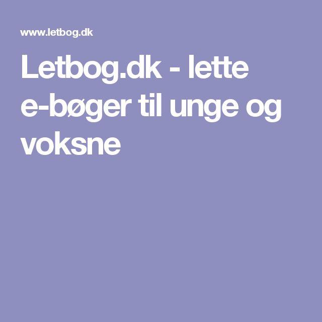Letbog.dk - lette e-bøger til unge og voksne