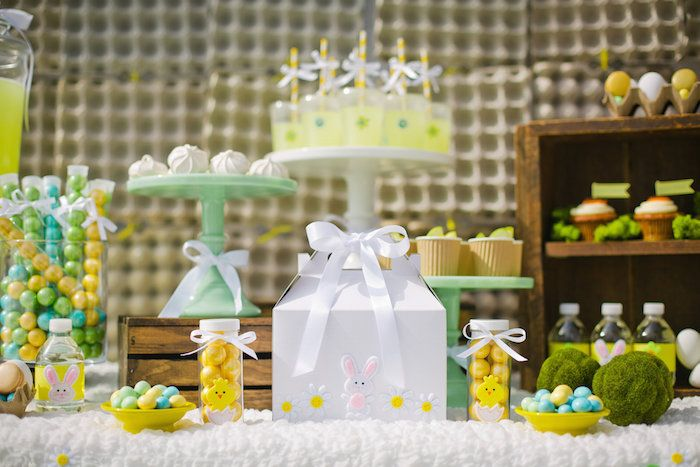 Easter Snack Station Party via Kara's Party Ideas KarasPartyIdeas.com | Cake, decor, printables, favors, food and more! #easterparty (3)