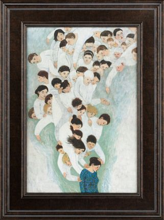 She Will Find What is Lost - Brian Kershisnik. Love it. Reminds me of a midwife/Mary & Joseph and Jesus picture by the same artist.