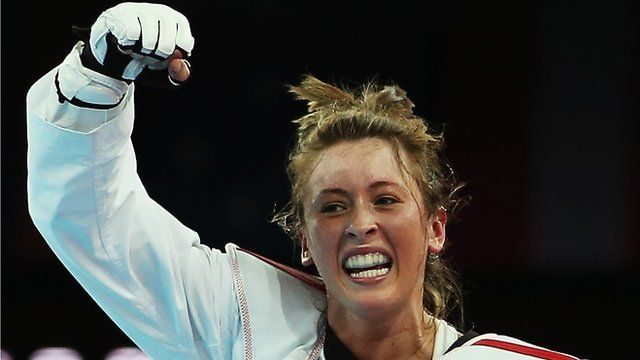 Jade Jones wins Olympics taekwondo gold.  Great Britain's Jade Jones beats Yuzhuo Hou of China to win Olympic gold in the 57kg class of taekwondo.    The 19-year-old's 6-4 victory at the ExCel secured Britain's first Olympic taekwondo gold medal and takes Britain's gold medal tally to 25.  Jade comes from Wales.