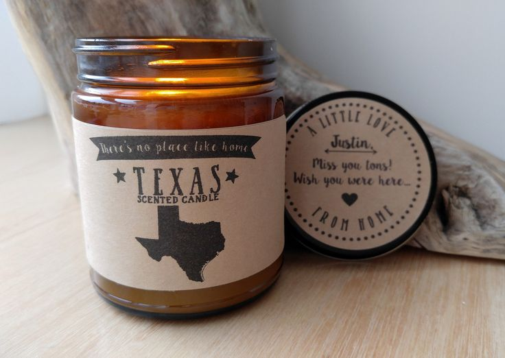 Texas Scented Candle Missing Home Homesick Gift Moving Gift New Home Gift No Place Like Home State Candle Thinking of You Valentines Day Gift