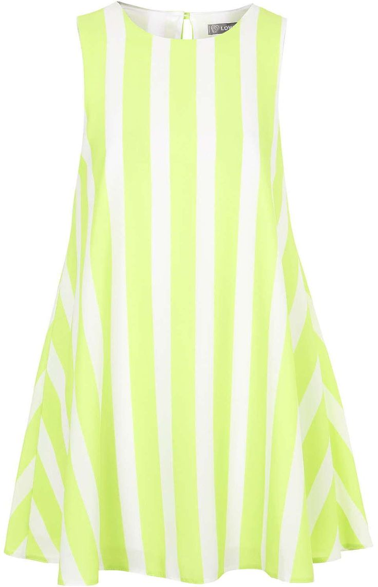 Womens lime shift dress from Topshop - £28 at ClothingByColour.com