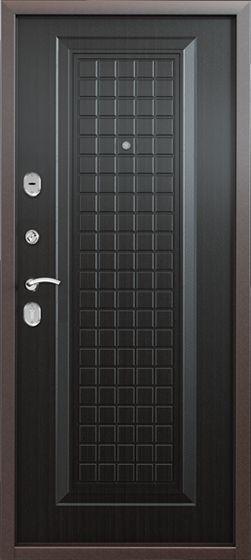 Металлическая входная дверь Torex Super Omega 8 (Черный шелк, Венге, RS-5)