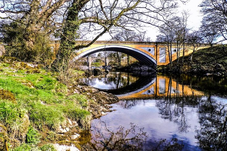 Stanley Bridge was built as the replacement for the nearby Devils Bridge and crossers the River Lune, Near Kirkby Lonsdale, Cumbria. Devils Bridge is visible throught the arch. More pictures and information on my blog at, www.colingreenphotography.co.uk