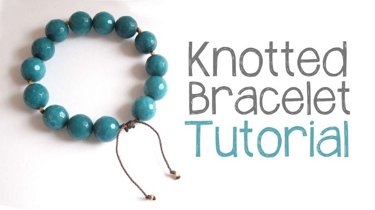 Cord Knotting Tutorial: DIY Knotted Cord Bracelet http://jewelrytutorialhq.com/diy-knotted-cord-bracelet-tutorial-video In this video, I show you step-by-ste...