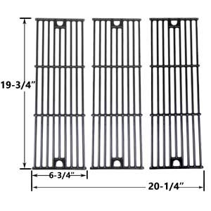 3 PACK GLOSS CAST IRON REPLACEMENT COOKING GRID FOR CHAR-GRILLER 2121, 2123, 2222 AND KING GRILLER 3008, 5252 GAS GRILL MODELS Fits Compatible CHARGRILLER Models : 2123 , 2222 , 2828 , 3001 , 3008 Chargriller , 3030 , 3725 , 4000 Chargriller , 5050 , 5252 Chargriller , Char-Griller 2121 , Char-Griller 4000 For More Details @http://grillpartsgallery.com/shopexd.asp?id=34005&sid=20705