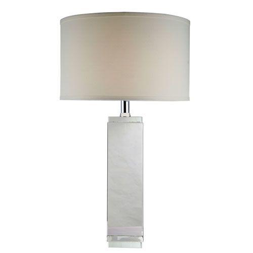 Regina Chrome Seventeen Inch Table Lamp Elegant Lighting Shaded Table Lamps  Lamps