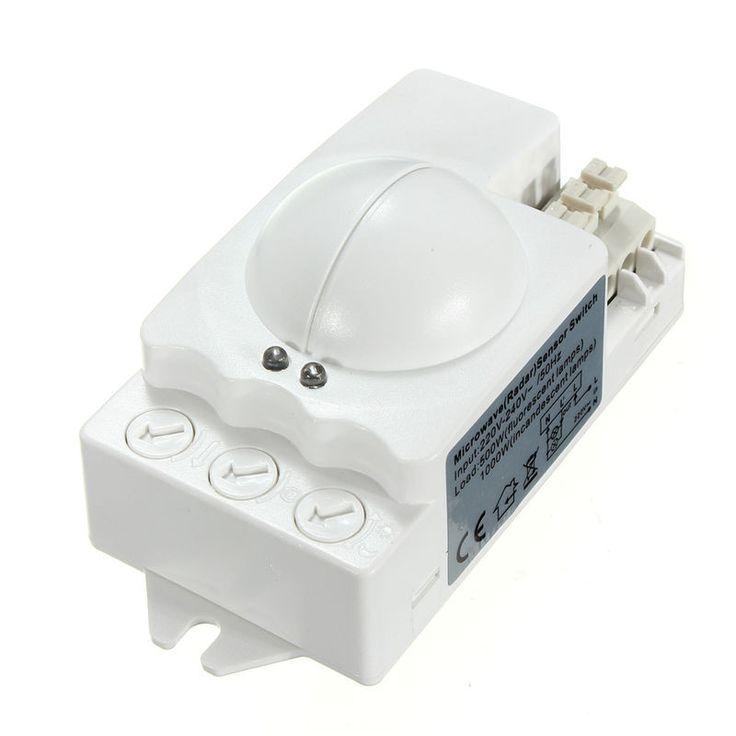 360 Degree 500W Microwave Smart Motion Sensor Light Radar Switch Ceiling Recessed Wall 90x40x40mm Motion Sensors Low Price