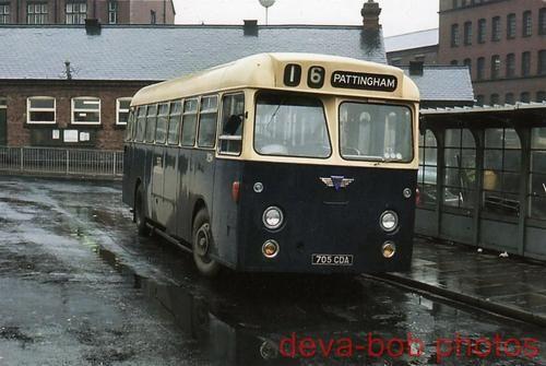 Bus Photo Wolverhampton Corporation Transport 705 AEC Reliance Park Royal 705CDA | eBay