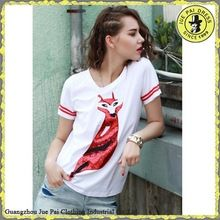 2015 New Design Fox Printing Design White Ringer Tshirt   Best Buy follow this link http://shopingayo.space