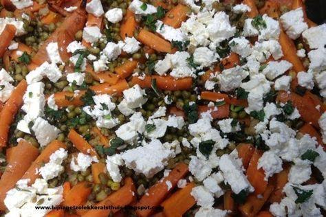 vegetarisch recept voor mungbonen met wortel en feta ottolenghi inspiratie