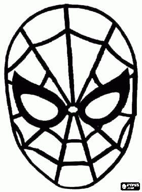 Masker Spider-man, Spinneman kleurplaat