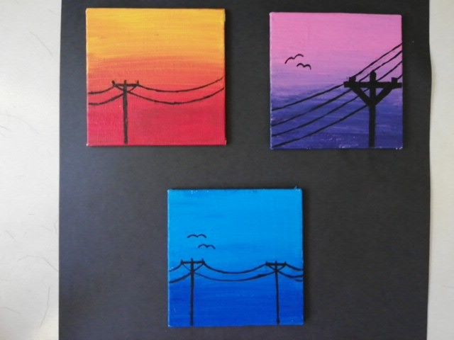 Mini Canvas Art Small Simple Paintings