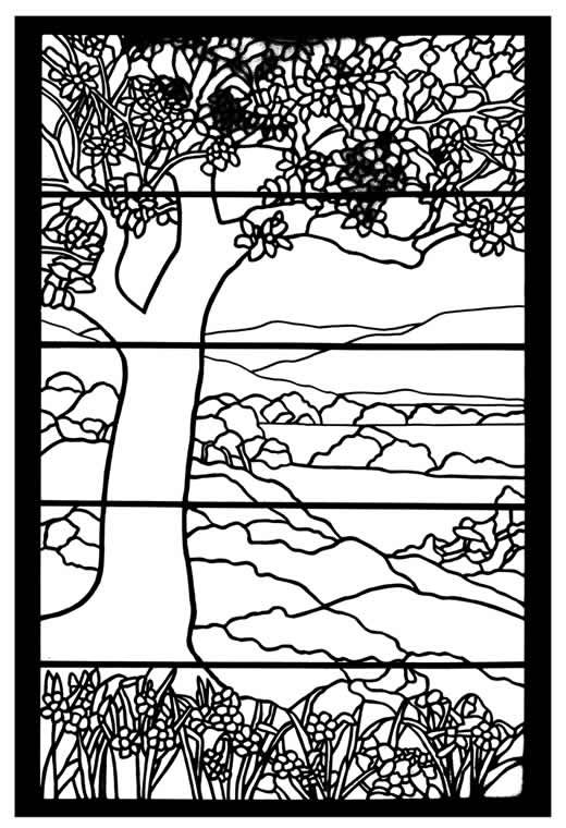 Tiffany Designs Stained Glass Coloring Book Dover Publications