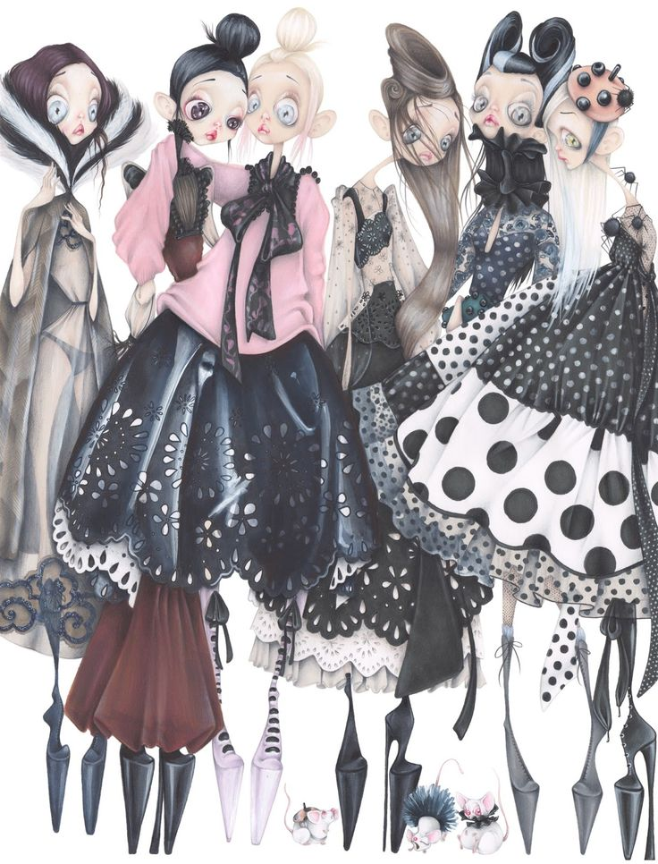 Illustration.Files: Marc Jacobs Fashion Illustration by Camille Pfister