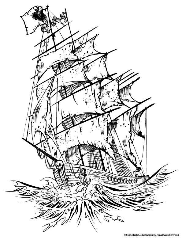 Best 25 Pirate Ship Tattoos Ideas On Pinterest