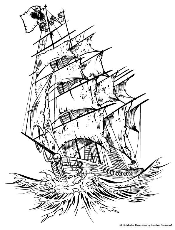 pirate ship tattoo designs | going to try to improve your ...